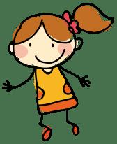 Cartoon Girl Jumping